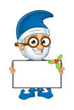 Old Elf Character In Blue Royalty Free Stock Image