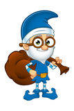 Old Elf Character In Blue Royalty Free Stock Photos