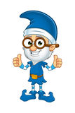 Old Elf Character In Blue Stock Photo