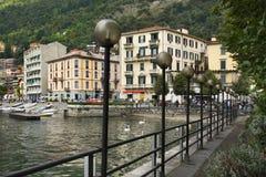 Old embankment in Como. Italy Stock Photos
