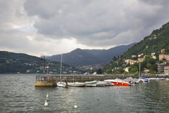 Old embankment in Como. Italy Stock Photography