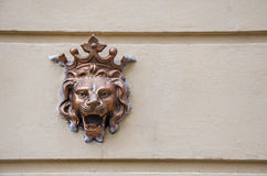 An old emblem on the wall Royalty Free Stock Image