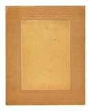 Old embossed cardboard frame isolated Royalty Free Stock Photography