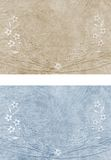 Old embroidered fabric. Backgrounds of embroidered cotton fabric in two color versions Stock Photography