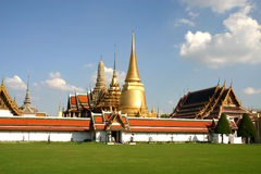 An old Emerald Buddha Temple Royalty Free Stock Images
