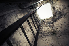 Old empty abandoned bunker interior Royalty Free Stock Photos