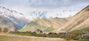 Old Empty Abandoned Forsaken Village With Dilapidated Houses In Stock Photos
