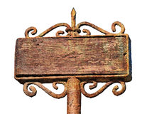 Old empty banner Royalty Free Stock Image