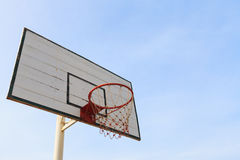 Old empty basketball basket and backboard Stock Images