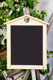 Old empty black board Royalty Free Stock Photography