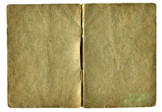 Old empty book isolated Royalty Free Stock Images