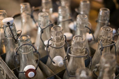 Free Old Empty Bottles Closeup - Bottlenecks Of Vintage Soda Bottles Royalty Free Stock Images - 98256809