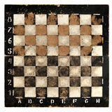 Old empty chess board. Objects: very old empty chess board,  on white background Stock Photo
