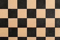Old empty chessboard. From above Royalty Free Stock Photos