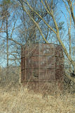 An Old Empty Corn Crib stock images