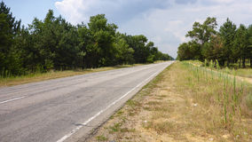 Old empty country road in Ukraine Royalty Free Stock Photo
