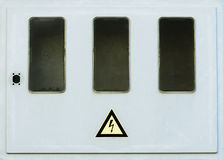 Old empty electric box Royalty Free Stock Image