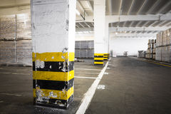 An old empty industrial warehouse interior Royalty Free Stock Photo
