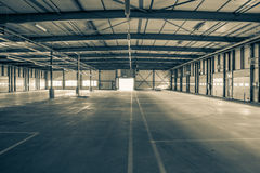 Old and empty industry hall. Old and empty industrial hall Royalty Free Stock Image