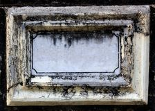 Old & empty nameboard made of concrete & marble Stock Photos