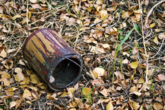 Old empty paint bucket Stock Image