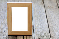 Old empty photo frame background Stock Photo