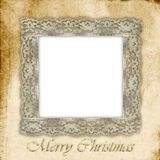 Old empty photo frame for Christmas Royalty Free Stock Photography