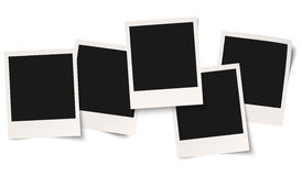 Old empty photos. Old empty photo frames isolated on white background Royalty Free Stock Images