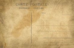 Old empty post card Royalty Free Stock Images