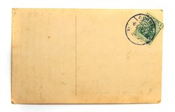 Old empty postcard royalty free stock photography