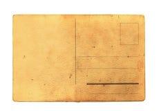 Old empty postcard Stock Image