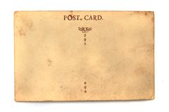 Old empty postcard Royalty Free Stock Photo