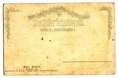 Old empty postcard royalty free stock photos