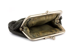 Old and empty purse Royalty Free Stock Images