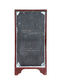 Old empty restaurant menu chalkboard. Isolated on white Stock Photo