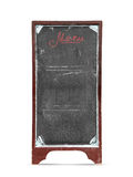Old empty restaurant menu chalkboard Stock Images