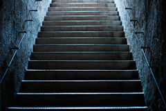Old Empty Stairs at the Subway Royalty Free Stock Photos