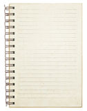 Old empty striped notebook Stock Photography