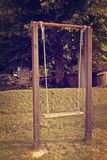 Old empty swing. Childhood memories Royalty Free Stock Photos