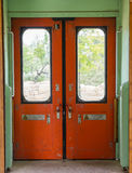 Old empty train carriage Royalty Free Stock Photography