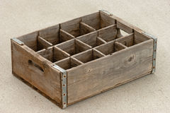 Old empty weathered wood bottle crate Royalty Free Stock Photos