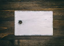 Old empty white wooden cutting board Stock Image