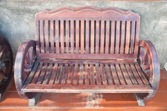 Old empty wooden bench Royalty Free Stock Image