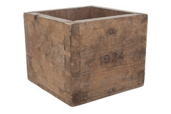 Old empty wooden box Royalty Free Stock Image
