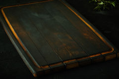 Old empty wooden cutting board Royalty Free Stock Photography