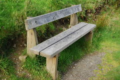Old empty wooden seat in countryside Royalty Free Stock Photography