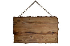 Old empty wooden sign Stock Images