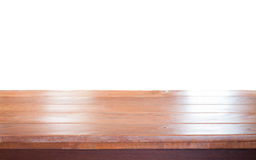 Old empty wooden table top Stock Images