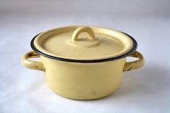 Old enamel cookware Stock Photos