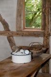 Old Enamel Dishes Stock Image